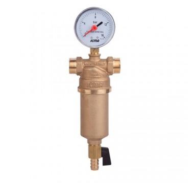 """Самопромывной фильтр для воды 1"""" 1/2 ICMA арт.750"""