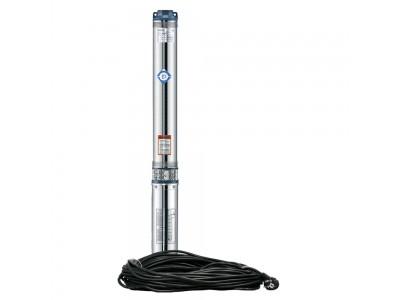 Насос центробежный 0.25кВт H 35(26)м Q 45(30)л/мин Ø80мм 20м кабеля mid AQUATICA (778400)