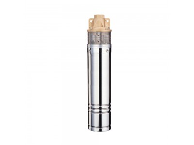 Насос вихревой Wetron 0.75кВт H 58(34)м Q 45(20)л/мин Ø96мм 10м кабеля (4SKmw100M) (778331)