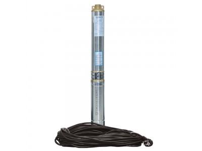 Скважинный центробежный насос Aquatica (Dongyin) 0.37кВт H 35(26)м Q 90(60)л/мин Ø80мм (кабель 20м) (777390)