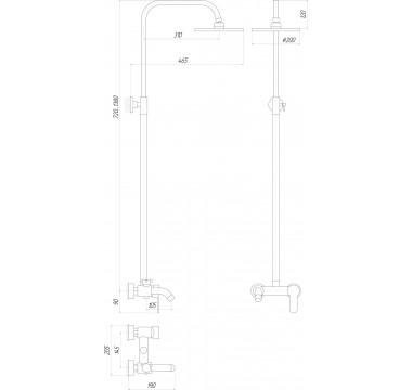 Душевая система GLOBUS LUX LAZER GLLR-0001