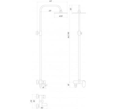 Душевая система GLOBUS LUX Prizma DS0010