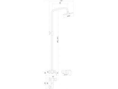 Душевая система GLOBUS LUX Prizma Shower DS0011