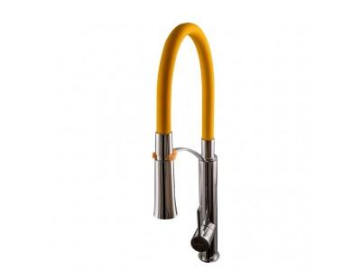 Смеситель кухонный TOPAZ SARDINIA-P-8817-H23-Y-S желтый