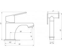 Смеситель для раковины гигиенический TOPAZ ZARA-TZ 13204-H37