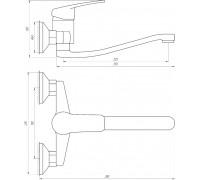 Смеситель для кухни Globus Lux Koln GLK-104
