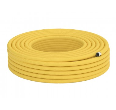 Труба гофрированная для газа из нержавеющей стали DISPIPE 15HFPY, отожженная оболочке, 1м.