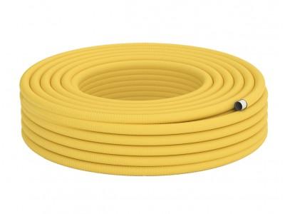 Труба гофрированная для газа из нержавеющей стали DISPIPE 25HFPY, отожженная в оболочке, 1м.