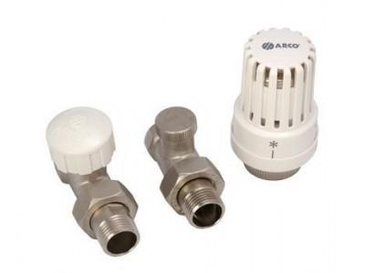 Радиаторный набор с термоголовкой Arco 1/2 (прямой)