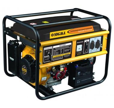 Генератор газ/бензин Sigma, 5.0/5.5кВт, 4-х тактный, электрозапуск