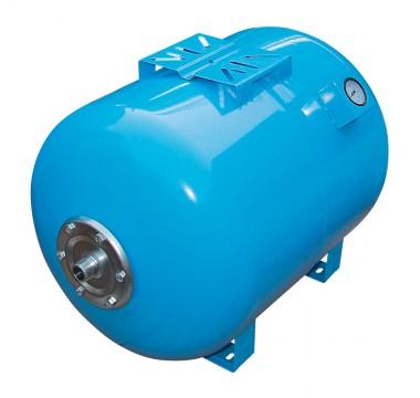 Гидроаккумулятор VOLKS 80 литров (горизонтальный) с манометром