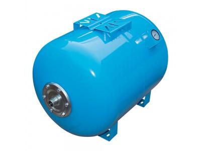 Гидроаккумулятор VOLKS 100 литров (горизонтальный) с манометром