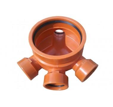 Кинета канализационная (днище-лоток) Мпласт 315/160 Проходной для наружной канализации