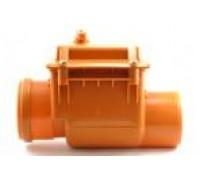 Запорный клапан канализационный Мпласт 50 для наружной канализации