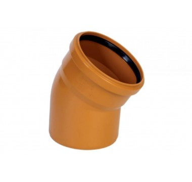Колено канализационное Мпласт 110/87 для наружной канализации