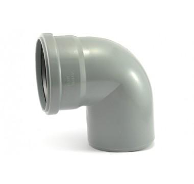 Колено канализационное Мпласт 110/87 для внутренней канализации