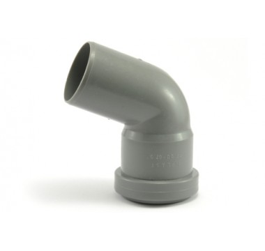 Колено канализационное Мпласт 50/67 для внутренней канализации