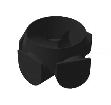 Колодец канализационный смотровой Мпласт Ø110 Кессон (кольцо с дном) 750