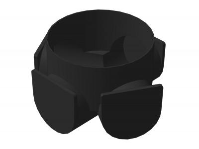 Колодец канализационный смотровой Мпласт Ø110 Кессон (кольцо с дном) 1100