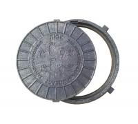 Люк смотровой с замком Мпласт Ø620 (1,5Т) черный