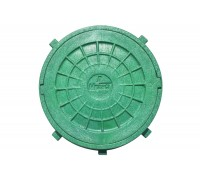 Люк смотровой дачный Мпласт Ø600 (0,3Т) зеленый