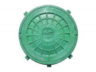 Люк смотровой с замком Мпласт Ø620 (1,5Т) зеленый