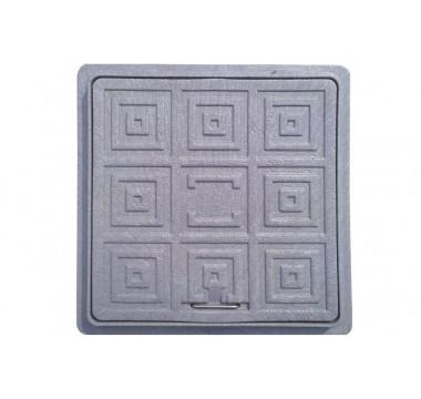 Люк квадратный дренажный Мпласт 300/300 черный
