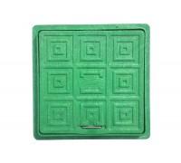 Люк квадратный дренажный Мпласт 300/300 зеленый