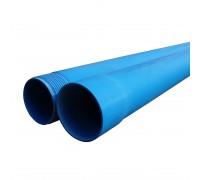 Труба обсадная Мпласт ПВХ (Обсадная) с резьбой Синяя 90x5,0