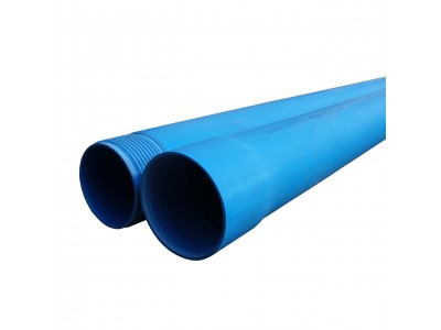 Труба обсадная Мпласт ПВХ (Обсадная) с резьбой Синяя 140x6,0