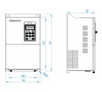 Преобразователь частоты FRECON на 37/45 кВт - FR500A-4T-037G/045P - Входное напряжение: 3-ф 380V