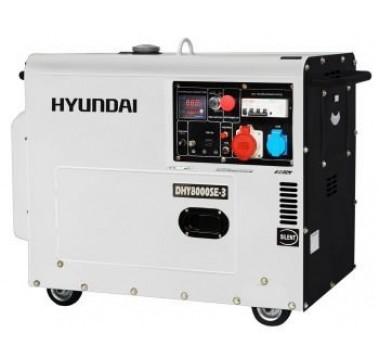 Генератор дизельный Hyundai DHY 8000SE-3